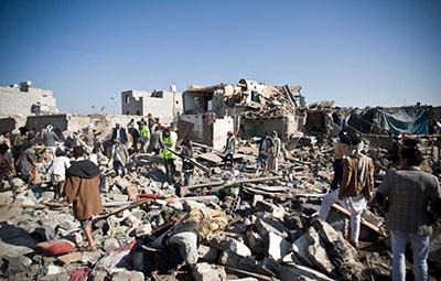 حمله ائتلاف سعودی به مراسم ختم صنعا نقض حقوق بشر است