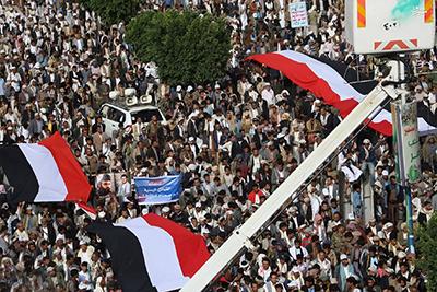 برگزاری تظاهرات گسترده مردم یمن در اعتراض به طرح «ولد الشیخ»