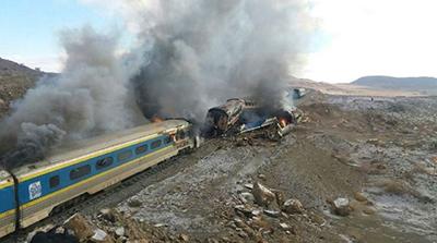 رسیدگی نهایی به پرونده برخورد دو قطار در انتظار گزارش کمیسیون بررسی سوانح