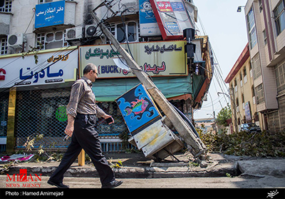 اعلام جزئیاتی از خسارات طوفان جمعه در مازندران